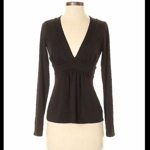 Susana Monaco black long sleeve v-neck size XS